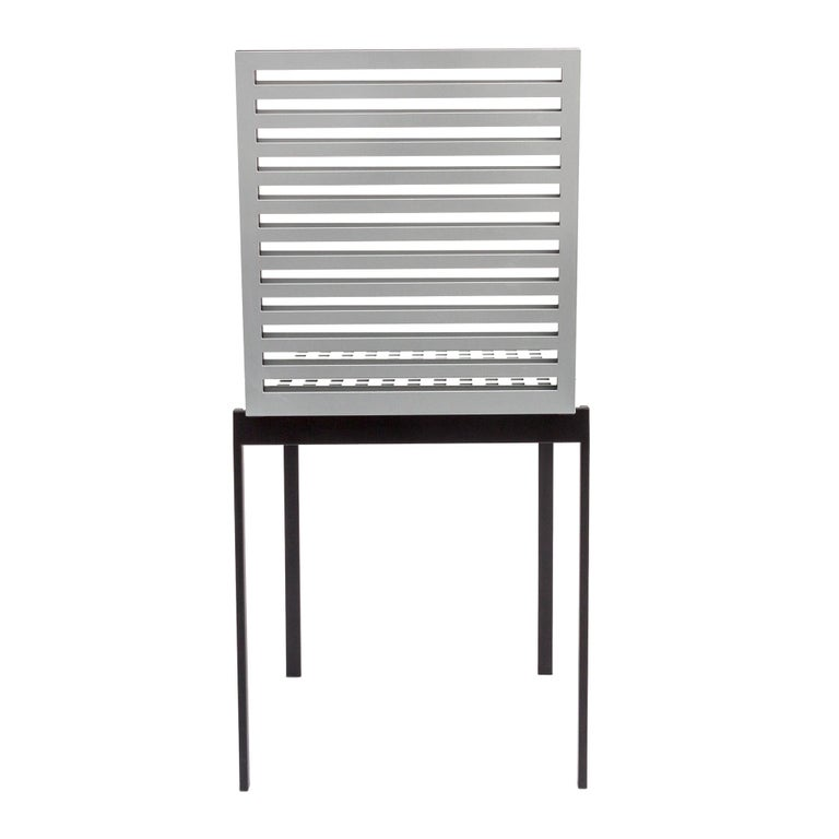 Italian Contemporary Tanit Classic Chair in Natural Aluminum For Sale