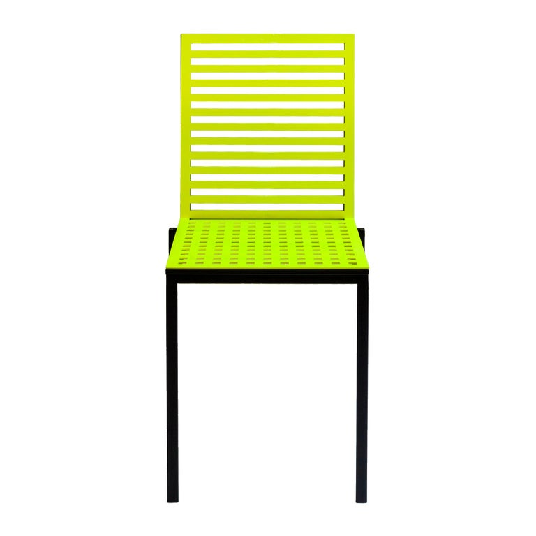 Tanit classic chair in fluorescent yellow aluminum, new