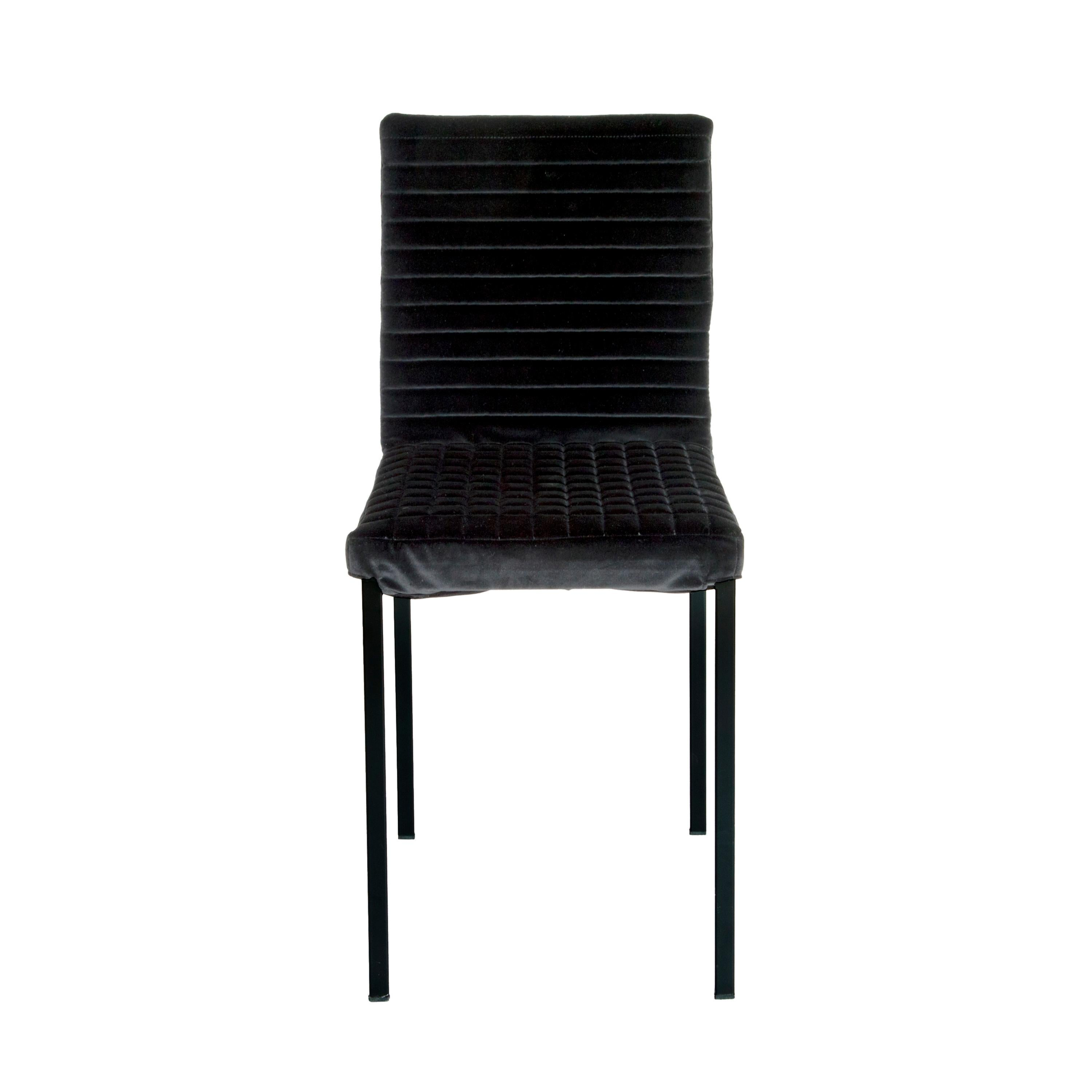 Contemporary Tanit Soft Chair with Black Velvet Cover