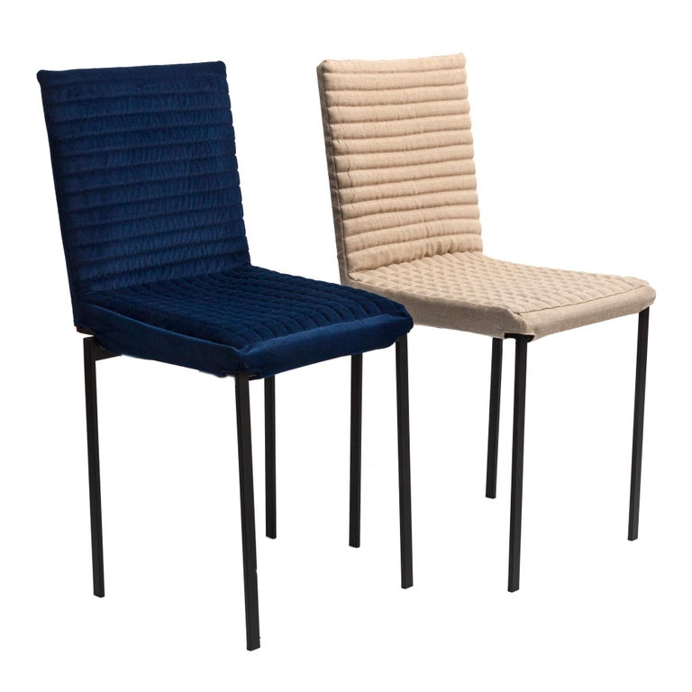 Contemporary Tanit Soft Chair with Blue Velvet Cover In New Condition For Sale In Milan, Lombardy