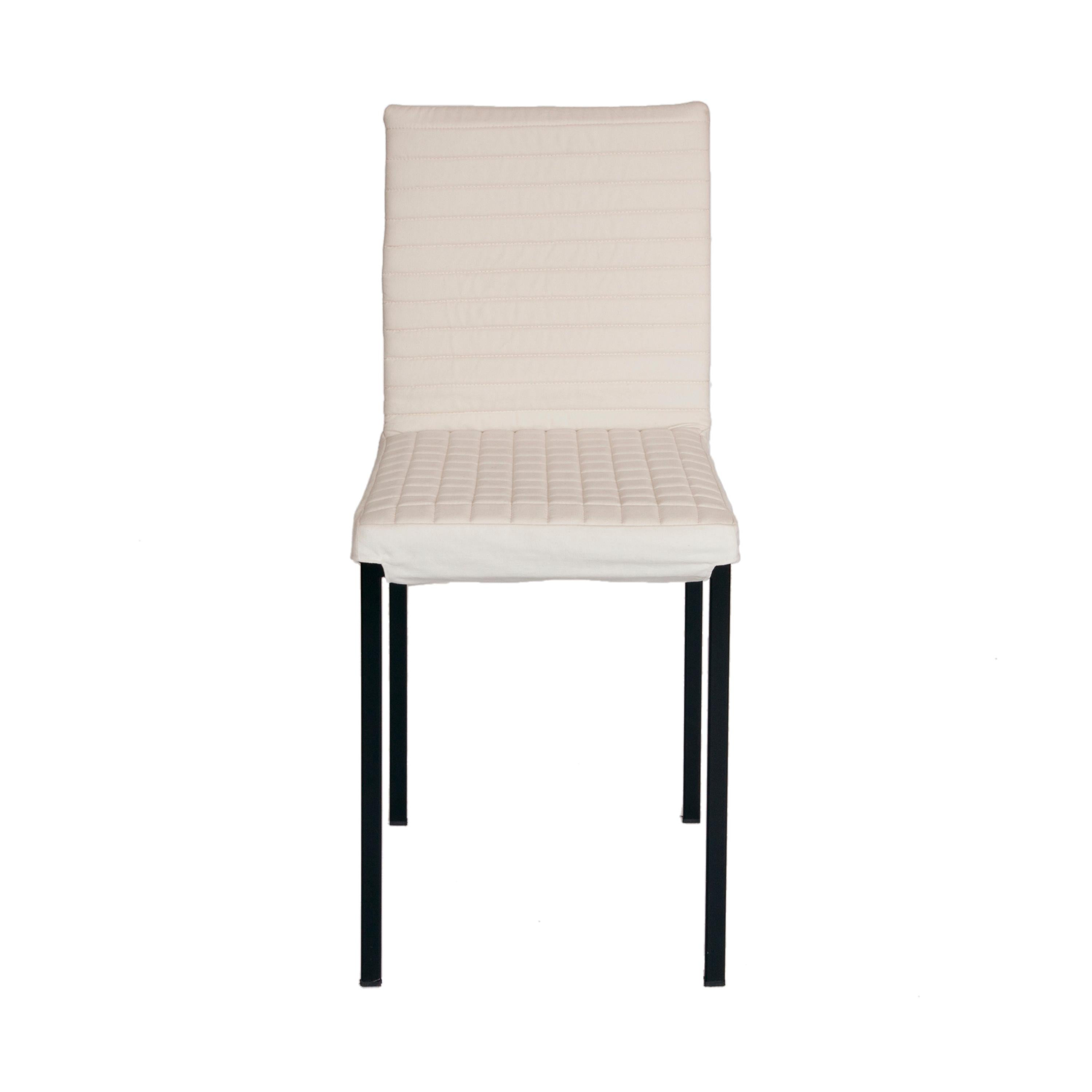 Contemporary Tanit Soft Chair with White Linen Cover
