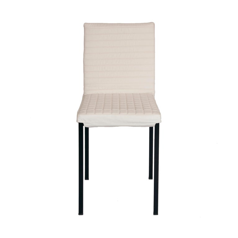 Contemporary Tanit Soft Chair with White Linen Cover For Sale