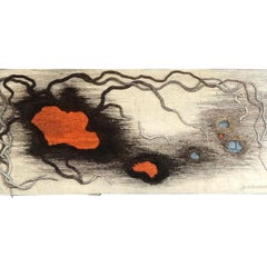 "Contemporary French Tapestry by Anne de Blander, ""Timanfaya"""