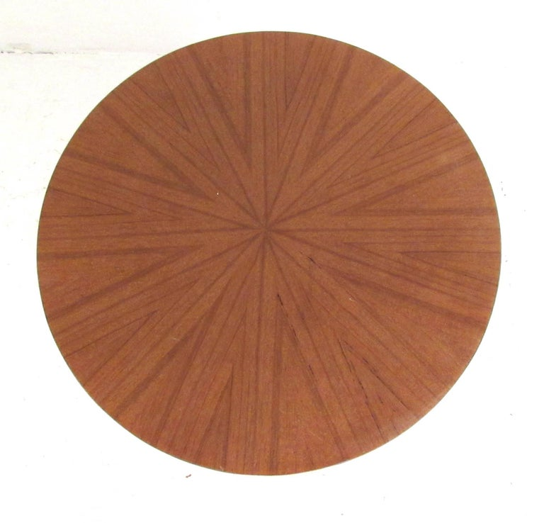 American Contemporary Teak Pedestal or End Table For Sale