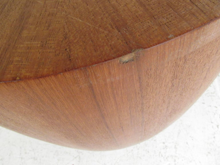 Contemporary Teak Pedestal or End Table For Sale 1