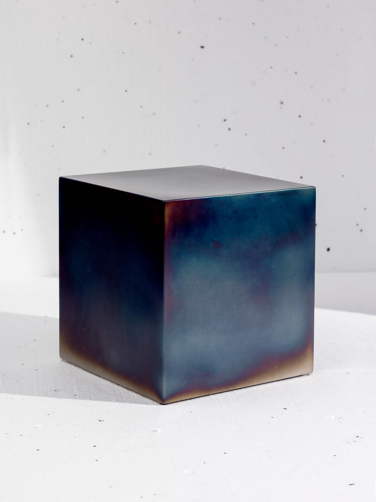 Candy Cube metal series.  Awailable in these sizes: 500 x 500 x 500 mm (shown version) 600 x 600 x 300 mm 400 x 400 x 600 mm  Sabine Marcelis is a Dutch/New Zealand designer based in Rotterdam. Marcelis sees her designs as experiences and strives to