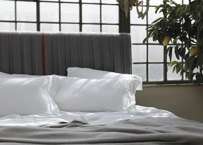 Textile Contemporary Bed, Pure Cashmere, Handmade in Italy, Customizable For Sale