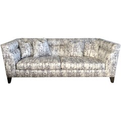 "Contemporary Theodore Alexander ""Modern Art"" Channel Back Sofa"