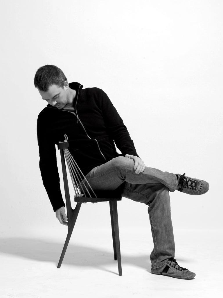 Contemporary Three Legged Chair in Brazilian Hardwood by Ricardo Graham Ferreira For Sale 6