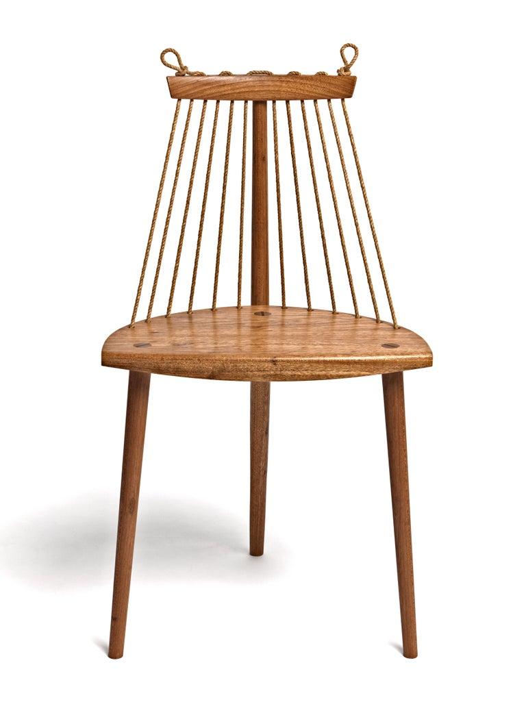 Contemporary Three Legged Chair in Brazilian Hardwood by Ricardo Graham Ferreira For Sale 3