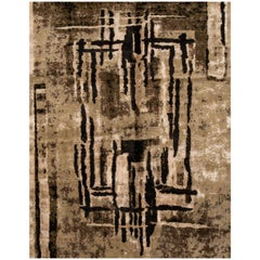 21st Century Contemporary Tibetan Abstract Rug