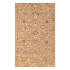 Contemporary Traditional Inspired Beige, Brown and Grey Tabriz Rug