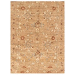 Doris Leslie Blau Collection Traditional Tabriz Inspired Beige Rug 'Fragment'