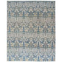 Contemporary Transitional Decorative Bidjar Floral Rug