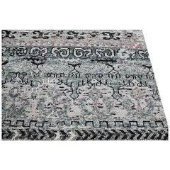 Zeitgenössischer Handgewebter Indo Ikat Übergangs-Teppich - RC 372