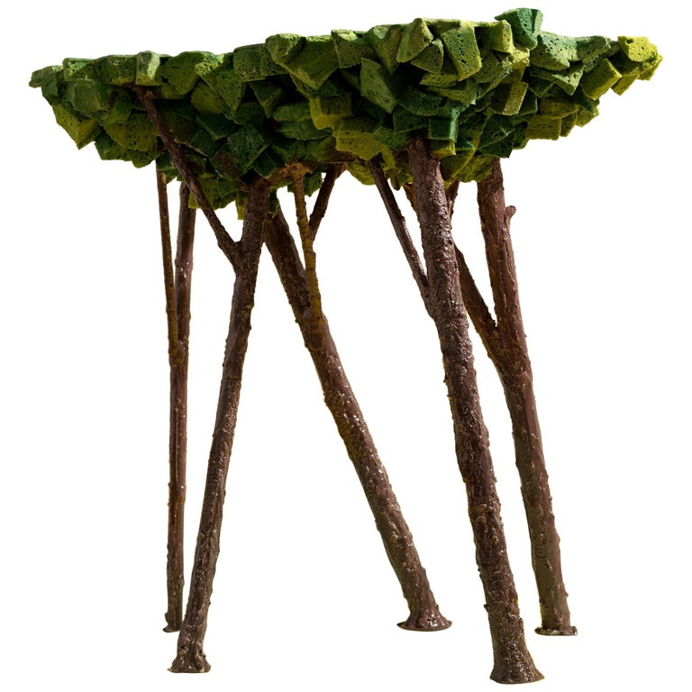 Contemporary Tree Side Table For Sale