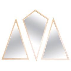"Contemporary ""Trio Geometric Mirrors"" by Alex Drew & No One, 2016"