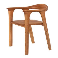 Contemporary Trovante Chair in Solid Cherry Wood