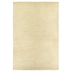 Contemporary Tulu Off-White Hand Knotted Wool Rug