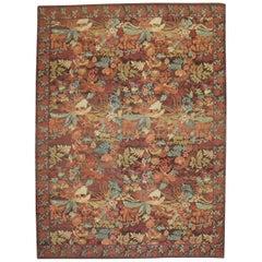 Contemporary Turkish Besserabian Floral Autumn Carpet