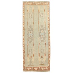 Contemporary Turkish Donegal Rug with Brown and Gray Botanical Patterns