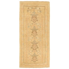 Contemporary Turkish Donegal Rug with Brown and Gray Botanical Pattern