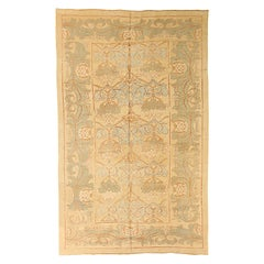 Contemporary Turkish Donegal Rug with Gray and Green Floral Details