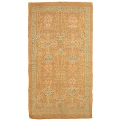 Contemporary Turkish Donegal Rug with Gray and White Floral Details