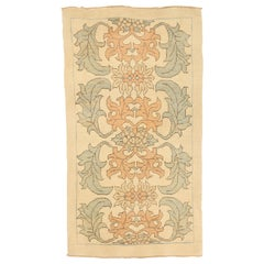 Contemporary Turkish Donegal Rug with Salmon and Green Botanical Details