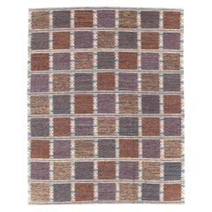 Contemporary Turkish Flat-Weave Room Size Carpet Inspired by Swedish Kilims