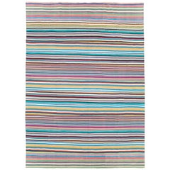 Contemporary Turkish Flat-Weave Rug