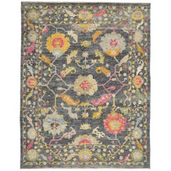 Colorful New Contemporary Turkish Oushak Rug with Modern Style