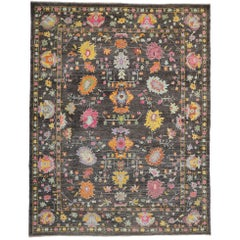 Colorful Contemporary Turkish Oushak Rug with Modern Style