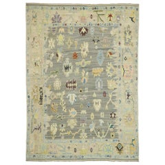 Contemporary Turkish Kilim Rug with Pastel Colors and French Transitional Style
