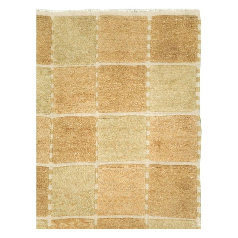 Scandinavian Modern Contemporary Turkish Square Room Size Carpet Inspired by Swedish Rugs For Sale