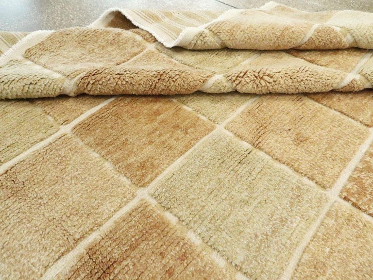 Contemporary Turkish Square Room Size Carpet Inspired by Swedish Rugs For Sale 3