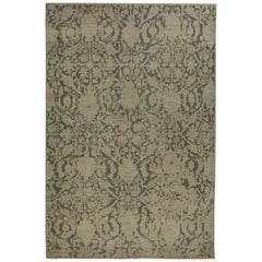 Contemporary Turkish Sultanabad Rug with Large Flower Heads Design
