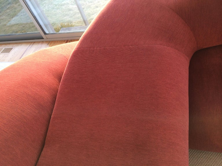 Upholstery Contemporary Sofa Twist in Upholstered Fabric For Sale