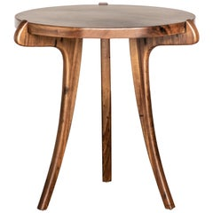 Contemporary Uccello Wood Sabre-Leg Side Table from Costantini