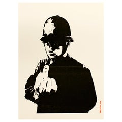 Contemporary Unframed Banksy Rude Silkscreen Stamped 632/500 Graffiti Art