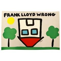 Contemporary Unframed Frank Lloyd Wrong Signed Todd Goldman Silkscreen 69/350