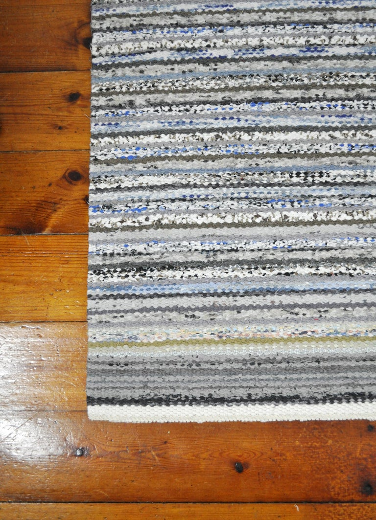 Contemporary Unique Handwoven Danish Rug in Recycled Materials In New Condition For Sale In Vordingborg, DK