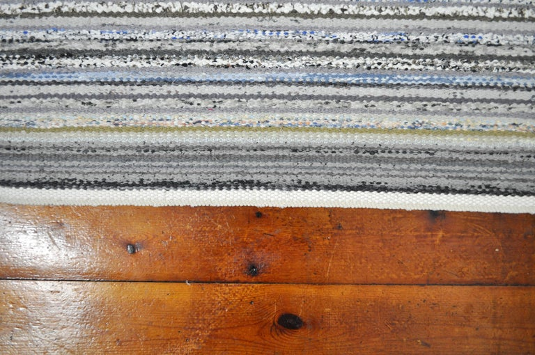 Contemporary Unique Handwoven Danish Rug in Recycled Materials For Sale 1