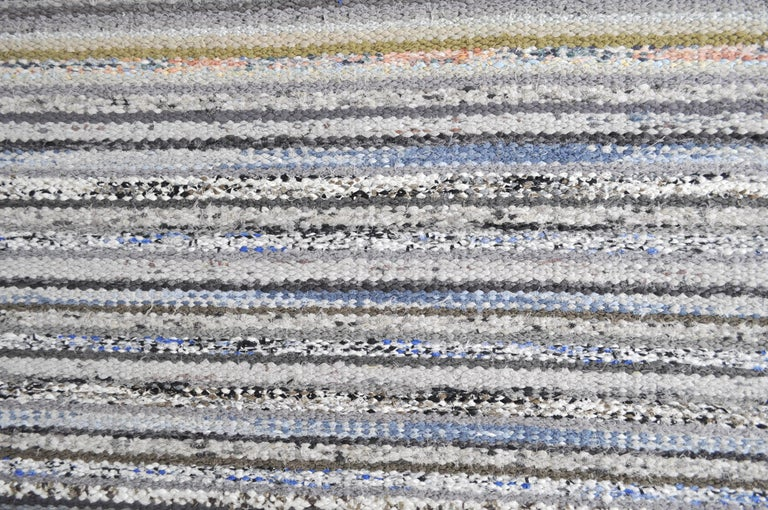 Contemporary Unique Handwoven Danish Rug in Recycled Materials For Sale 4