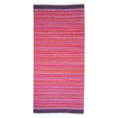 Contemporary Unique Handwoven Danish Rug in Recycled Materials