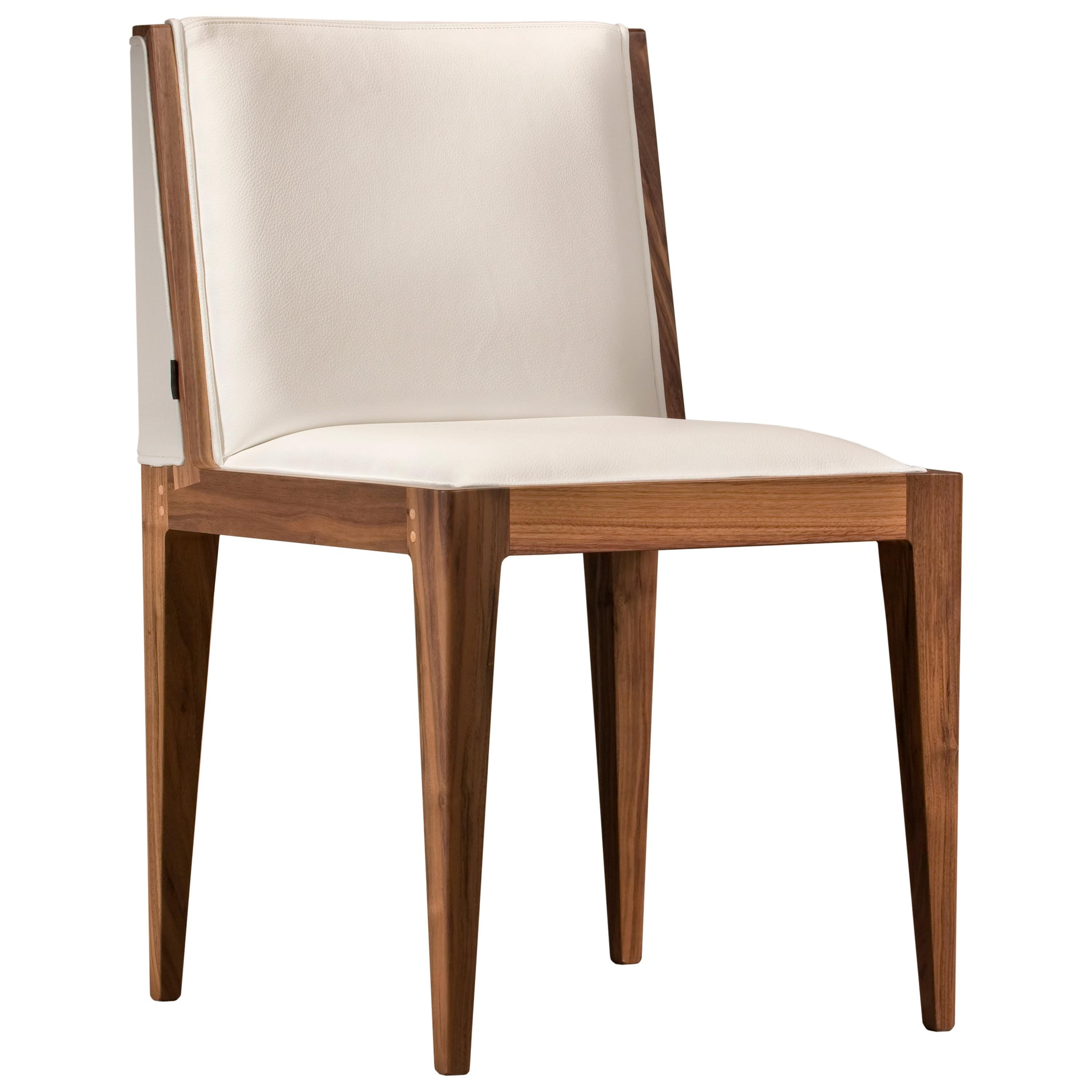 Contemporary Upholstered Chair Made of Ash Wood, by Morelato