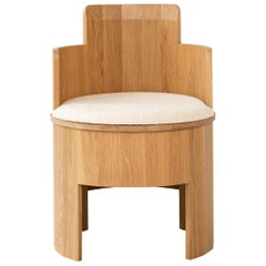 Contemporary Upholstered Cooperage Chair in White Oak by Fort Standard