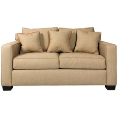 Contemporary Upholstered Love Seat