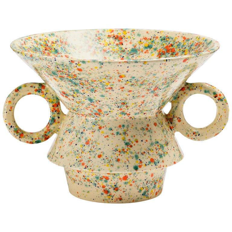 "Contemporary ""V"" Vase Handmade For Sale"