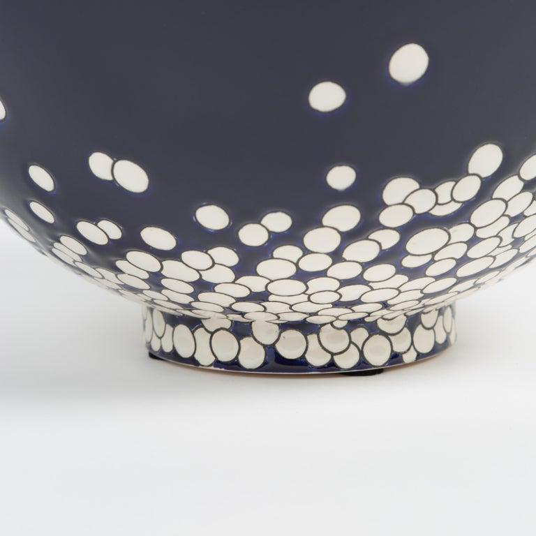 Japonisme Contemporary Vase Emaux de Longwy, Darksnow For Sale